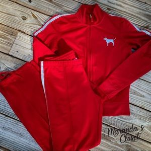 "Victoria's Secret ""PINK"" Red Jogger Set"